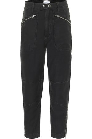Frame Moto Zip high-rise straight jeans