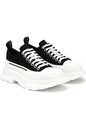 Alexander McQueen Tread Slick canvas platform sneakers