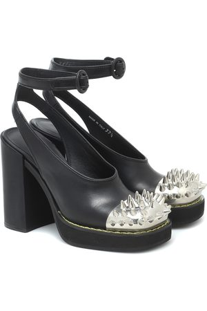 Miu Miu Studded leather platform pumps