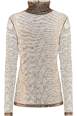 DRIES VAN NOTEN Snake-print stretch-jersey top