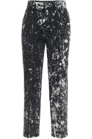Stella McCartney Galaxy printed high-rise cropped jeans