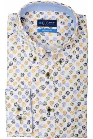 Bos Bright Blue Willem Shirt Casual Bd 20307WI36BO/500 multicolour