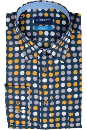 Bos Bright Blue Ward Shirt Casual Hbd 20307WA59BO/500 multicolour