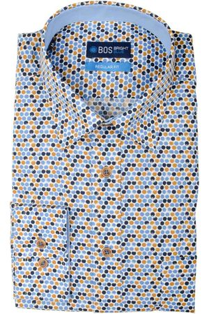 Bos Bright Blue Ward Shirt Casual Hbd 20307WA50BO/500 multicolour