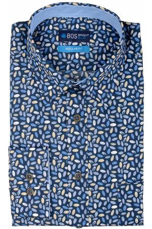 Bos Bright Blue Ward Shirt Casual Hbd 20307WA48BO/500 multicolour