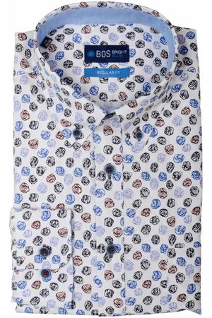 Bos Bright Blue Willem Shirt Casual Bd 20307WI30BO/500 multicolour