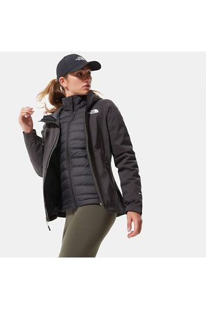 The North Face The North Face Mountain Zip-in Triclimate®-donsjas Voor Dames Tnf Black Heather\tnf White Größe L Dame
