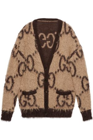 Gucci Reversible GG mohair wool cardigan