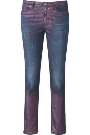 Glücksmoment Dames Skinny - Skinny-jeans model Gill met glans-coating Van