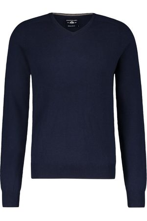 State of art Heren Pullovers - Pullover donkerblauw v-hals