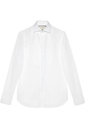 Gucci Sea Island cotton plastron shirt