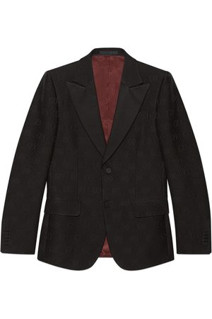 Gucci Fitted GG stripe wool silk jacket