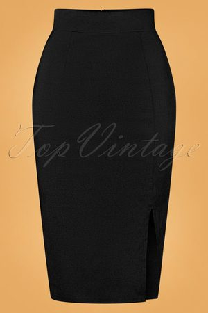 Vintage Chic for TopVintage 50s Eleonora Pencil Skirt in Black