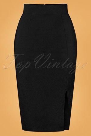 Vintage Chic for TopVintage 50s Eleonora Pencil Skirt in Black
