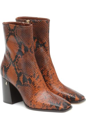 Jimmy Choo Dames Enkellaarzen - Bryelle 85 leather ankle boots