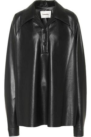 Nanushka Dames Lange mouw - Faux-leather shirt