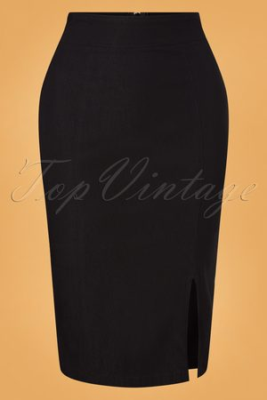 Steady 50s Cora Pencil Skirt in Black