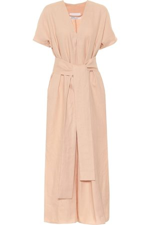 Lisa Marie Fernandez Rosetta linen maxi dress