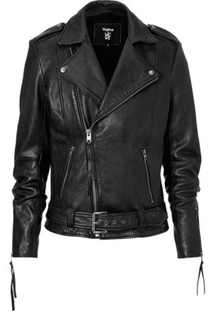 Tigha Heren Leren jas Ethan zwart (black)