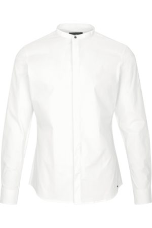 Tigha Heren Overhemd Ole stretch wit (white)