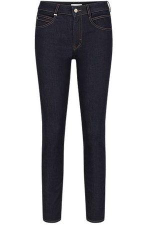HUGO BOSS Dames Slim - Slim-fit jeans in dark-blue comfort-stretch denim