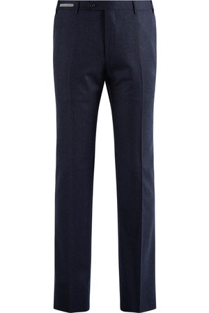 corneliani Pantalon Heren Donkerblauw Wool Flannel