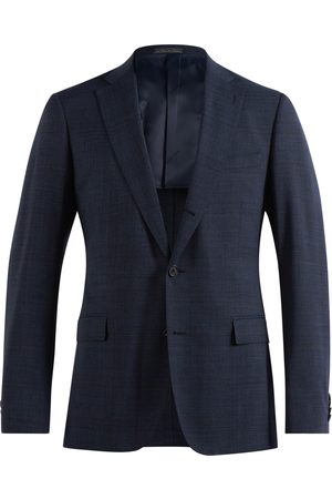 SOC13TY Pak Heren Donkerblauw Geruit Wool Stretch