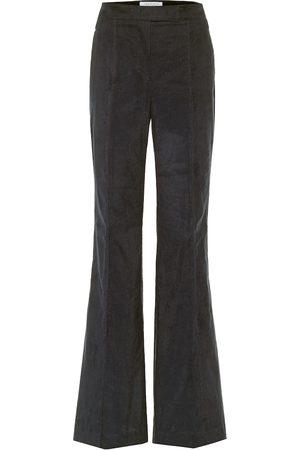 GABRIELA HEARST Dames Wijde broeken - Leda flared cotton pants