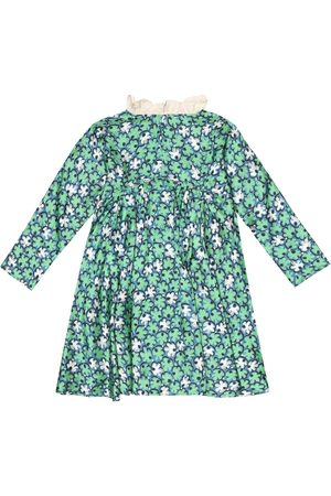 Caramel Meisjes Geprinte jurken - Puffin floral faille dress