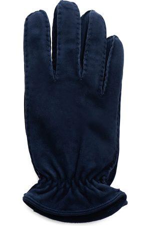 Hestra Handschoenen Heren Donkerblauw Suéde