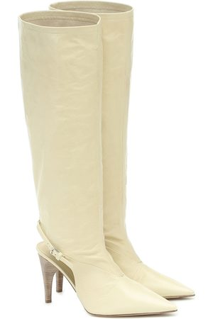 Jil Sander Dames Hoge laarzen - Cut-out knee-high leather boots