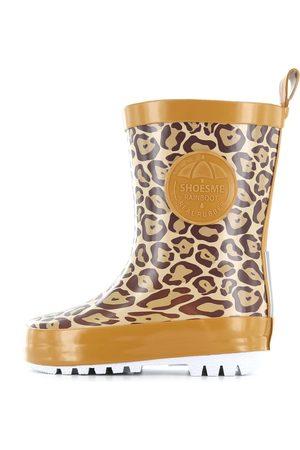 Shoesme Meisjes Regenlaarzen - Regenlaars met all-over luipaardprint