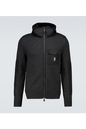 Moncler Tricot wool and nylon zipped sweater
