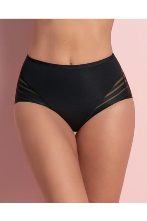 LEONISA Lace Stripe Undetectable Panty | | Black