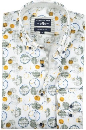 State of art Shirt geel groen casual print