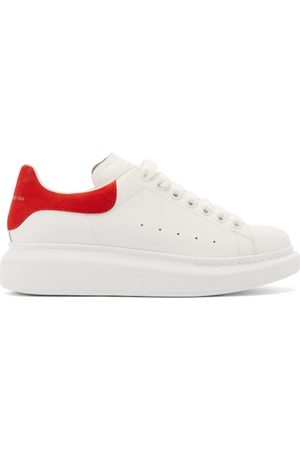 Alexander McQueen Oversized Raised-sole Low-top Leather Trainers - Womens - Red White