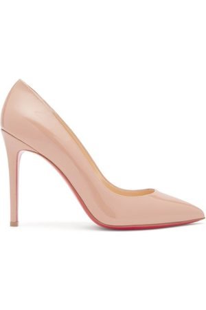 Christian Louboutin Pigalle 100 Patent-leather Pumps - Womens - Nude