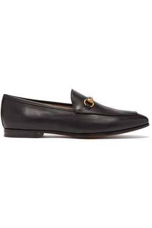Gucci Jordaan Leather Loafers - Womens - Black