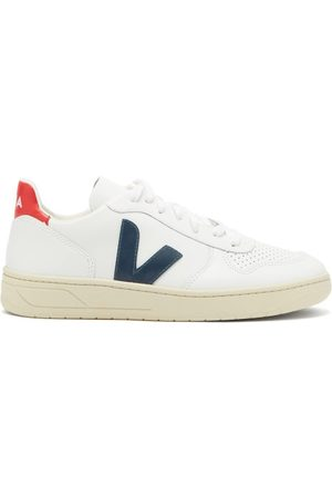 Veja V-10 Low-top Leather Trainers - Womens - White Multi
