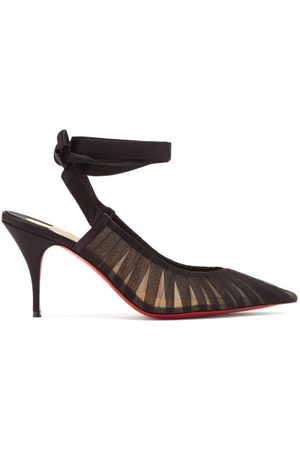 Christian Louboutin Goya Ruban 80 Pleated Tulle Pumps - Womens - Black