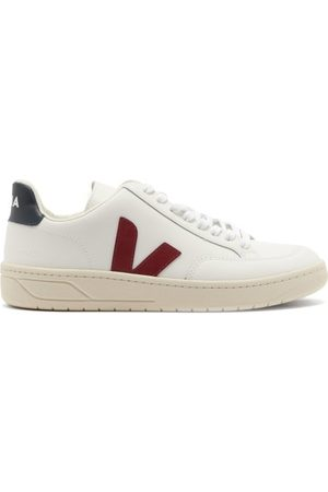 Veja V-12 Leather Trainers - Womens - White Multi