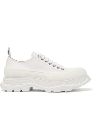 Alexander McQueen Dames Sneakers - Hybrid Slick Chunky-sole Canvas Trainers - Womens - White