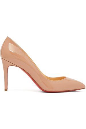 Christian Louboutin Dames Pumps - Pigalle 85 Patent-leather Pumps - Womens - Nude