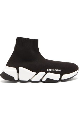Balenciaga Speed 2.0 Trainers - Womens - Black/white