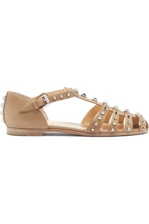 Christian Louboutin Dames Sandalen - Loubiclou Studded Caged Leather Sandals - Womens