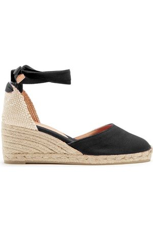 Castaner Carina 60 Canvas & Jute Espadrille Wedges - Womens - Black