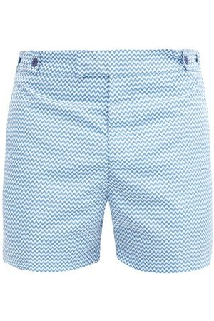 Frescobol Carioca Copacabana Tailored Swim Shorts - Mens - Blue