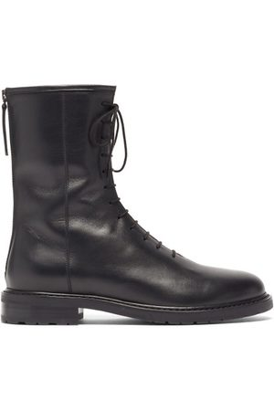 LEGRES Lace-up Leather Boots - Womens - Black