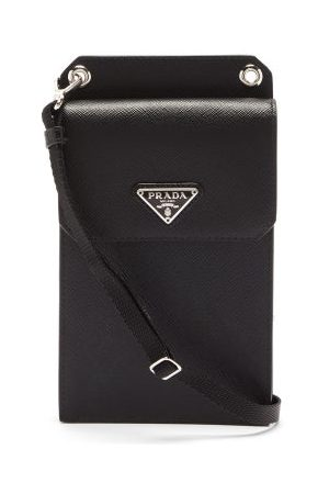 Prada Heren Telefoon - Saffiano-leather Iphone® Case - Mens - Black