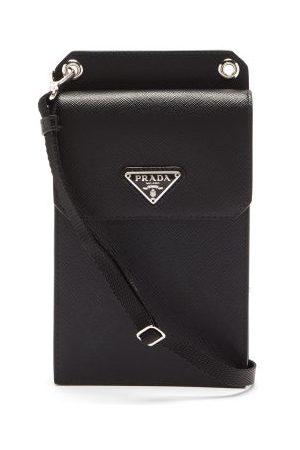 Prada Heren Telefoon - Saffiano-leather Iphone® Case - Mens - Black